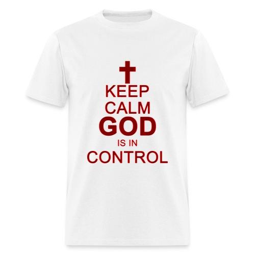 Keep Calm Mens Tee Dark Red - Men's T-Shirt