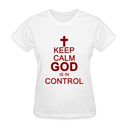 Keep Calm Ladies Tee Dark Red - Women's T-Shirt