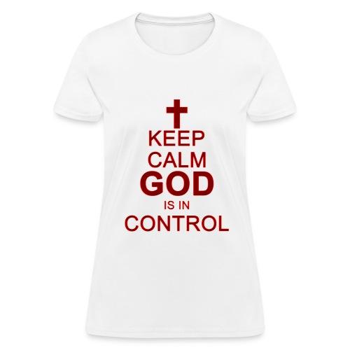 Keep Calm Ladies Tee Dark Red - Women's T-Shirt