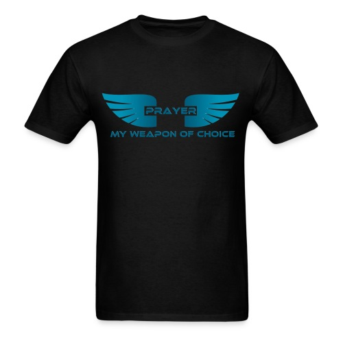 Prayer, My Weapon of Choice WINGS - Mens Tee - Men's T-Shirt