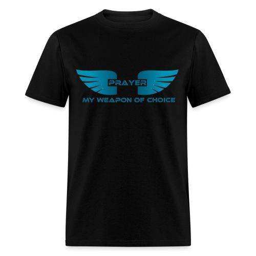 Prayer, My Weapon of Choice WINGS - Mens Tee - Men's T-Shirt