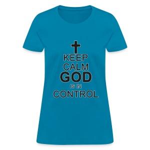 Keep Calm Ladies Tee Blk /DarkGrey - Women's T-Shirt