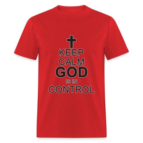 Keep Calm Mens Tee Blk /DarkGrey - Men's T-Shirt