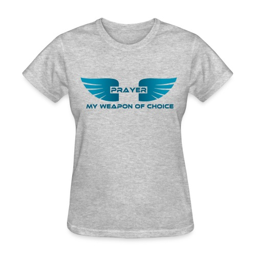 Prayer, My Weapon of Choice WINGS - Ladies Tee - Women's T-Shirt