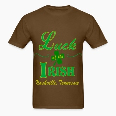 Nashville Luck of the Irish Men's Dark T-Shirts