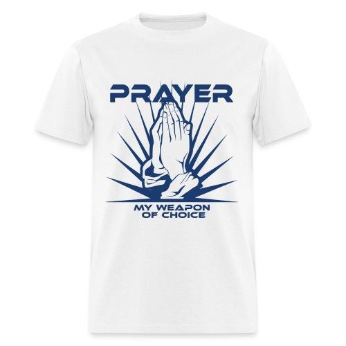 Prayer, My Weapon of Choice Blue Hands - Mens Tee - Men's T-Shirt