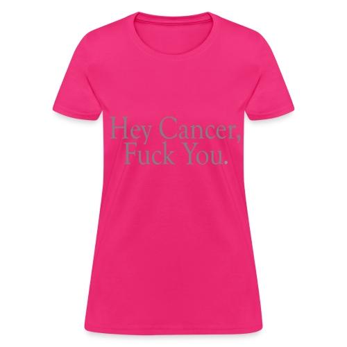 Fuck Cancer Basic Women Tee - Women's T-Shirt