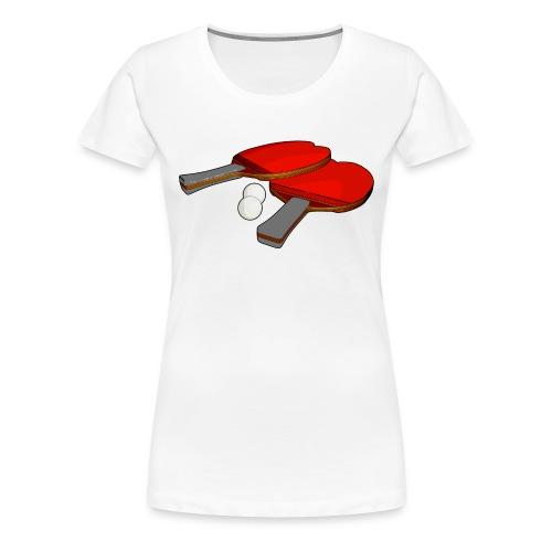 Valentine's ping pong paddle - Women's Premium T-Shirt