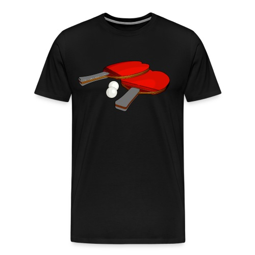 Valentine's ping pong paddle - Men's Premium T-Shirt