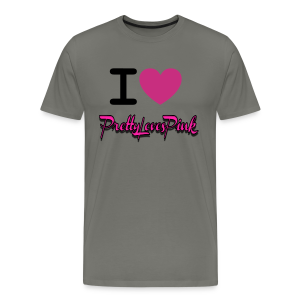 PrettyLovesPink Crown (Asphalt) - Men's Premium T-Shirt