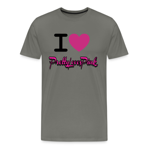 PrettyLovesPink Crown (Asphalt) - Men's Premium T-Shirt