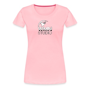 WMN Studio Globe Logo Women's T Shirt - Women's Premium T-Shirt