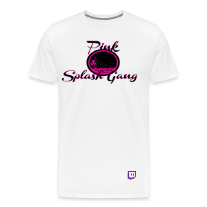 Pink Splash Gang Logo (White) - Men's Premium T-Shirt