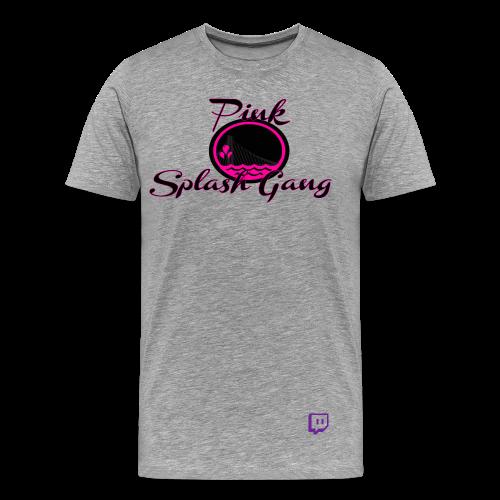 Pink Splash Gang Logo (Grey) - Men's Premium T-Shirt