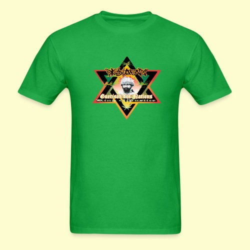 Men's T-Shirt - tropical,reggae,rastafari,paint,musique,gwada,graff,ethiopia,bob,black star,art,africa,Reggae star,Rasta,PURPLE&JAYON,Jamaica,Dance Hall