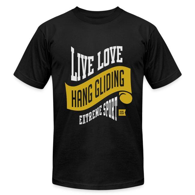 Live Love Hang Gliding Dark T-shirt