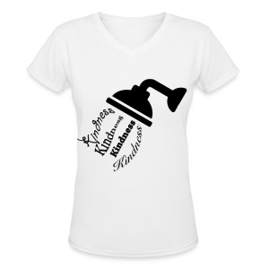 Shower Them In Kindness - Women's V-Neck T-Shirt