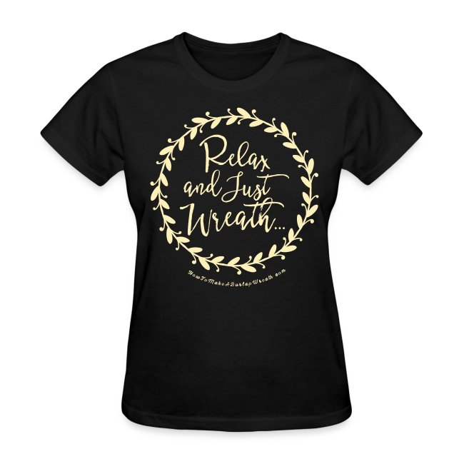 Relax and Just Wreath - Deep Heather  and Cream T-shirt