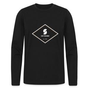 White & Orange Logo Long Sleeve Tee - Men's Long Sleeve T-Shirt by Next Level