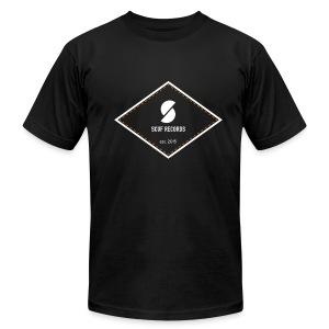 White & Orange Logo Tee - Men's Fine Jersey T-Shirt