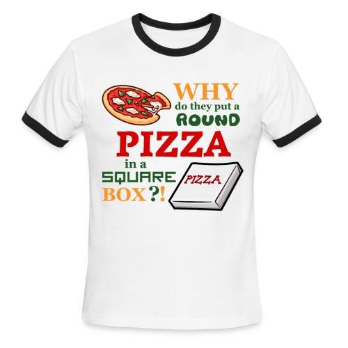 Pizza Box - Men's Ringer T-Shirt