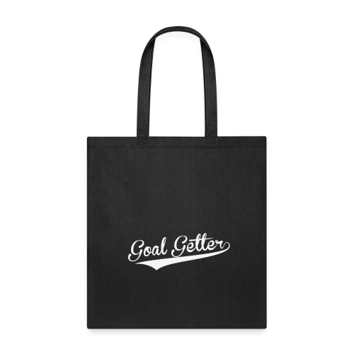Goal Getter Tote bag-bag edge-Black - Tote Bag