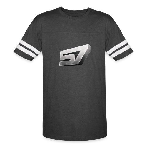 Sensational 7 Striped T-Shirt - Vintage Sport T-Shirt