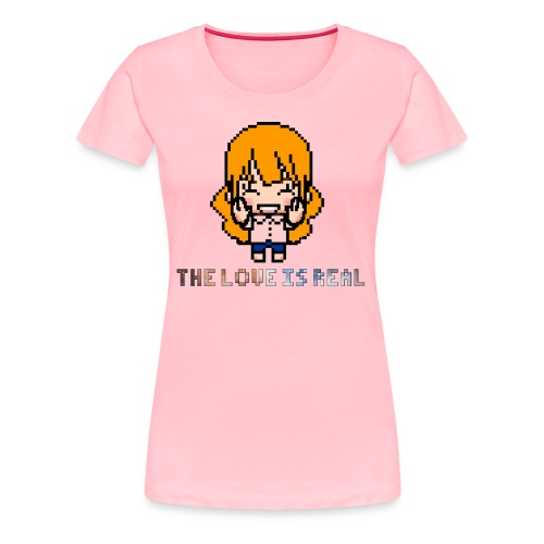 The Love Is Real Classic Tee (Slim Fit) - Women's Premium T-Shirt
