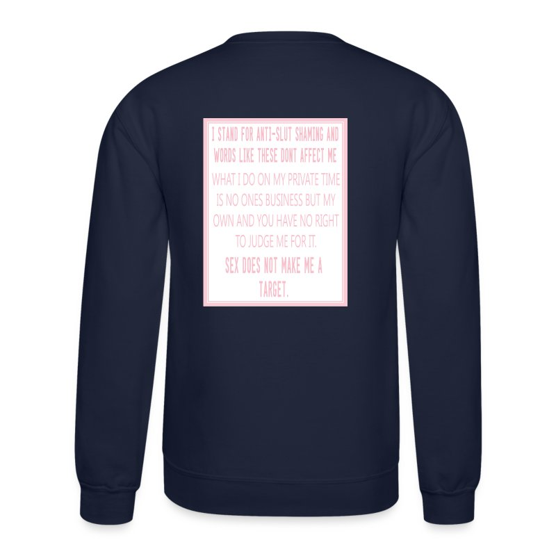 Unisex SLUT Crew Neck #AntiSlutShaming - Crewneck Sweatshirt