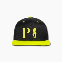 Poochie's Tees Snap-Back Caps Yellow Letters