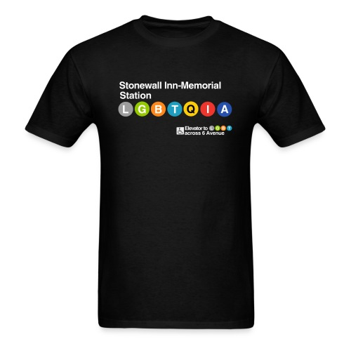 Pride Train Lines - Men's T-Shirt