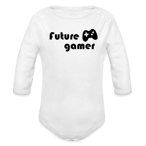 Future Gamer Baby    - Organic Long Sleeve Baby Bodysuit