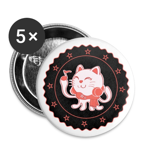 Hepp the Octopus Cat - Small Buttons - Small Buttons