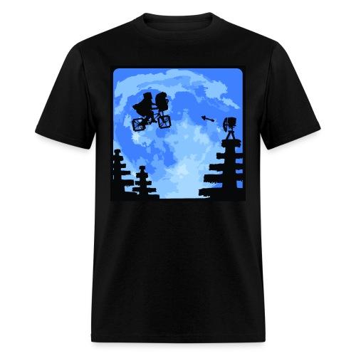 ET escapes Minecraft - Men's T-Shirt