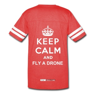 Keep calm and fly a drone - T-Shirt (Women) - Vintage Sport T-Shirt