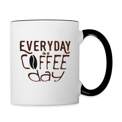 Everyday is a coffee day - Contrast Coffee Mug