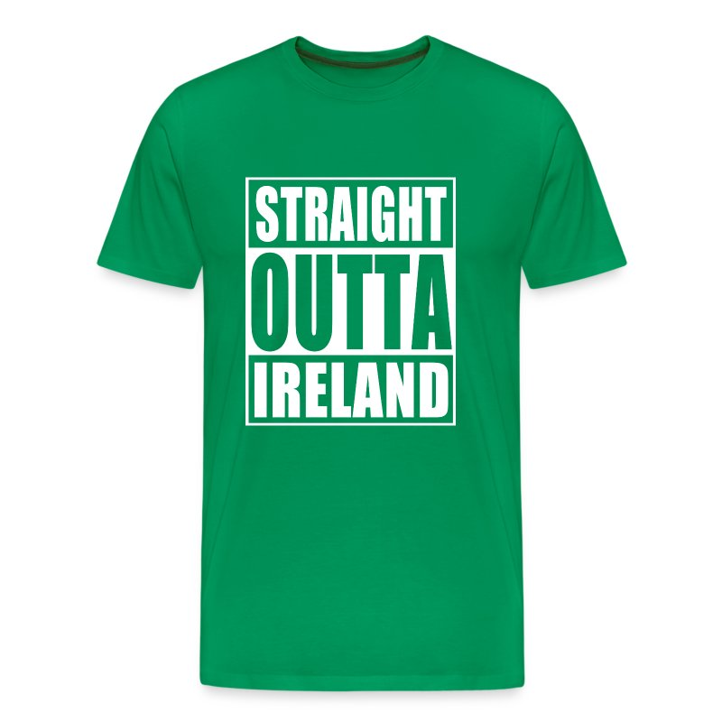 Straight outta ireland t shirt spreadshirt for Straight from the go shirt