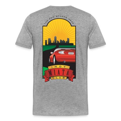 Men's Premium T-shirt with unique IMC logo on the back - Men's Premium T-Shirt