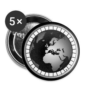 Wheel & Globe Logo Pin - Small Buttons