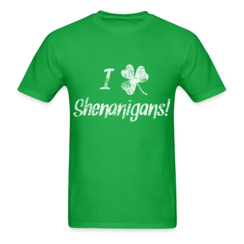 I Clover Shenanigans, Cute St. Patrick's Day - Men's T-Shirt