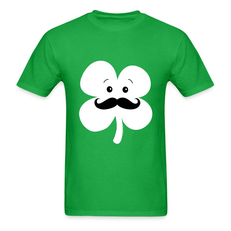 Kawaii Mustache Clover - Men's T-Shirt
