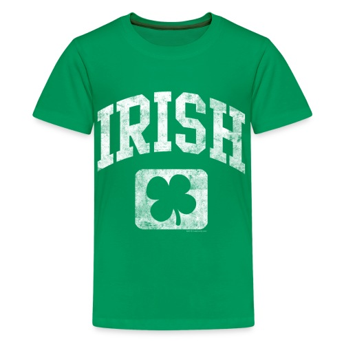 Grunge Irish Logo St Patricks Day - Kids' Premium T-Shirt