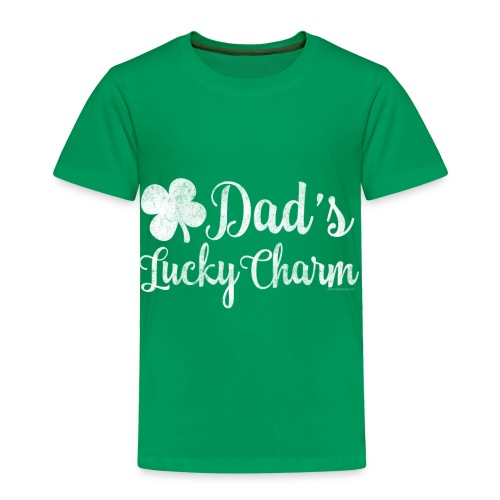 Dad's Lucky Charm Girl's St. Patrick's Day - Toddler Premium T-Shirt