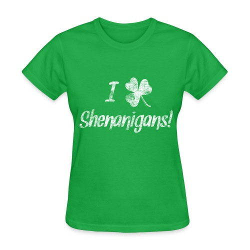 I Clover Shenanigans, Cute St. Patrick's Day - Women's T-Shirt
