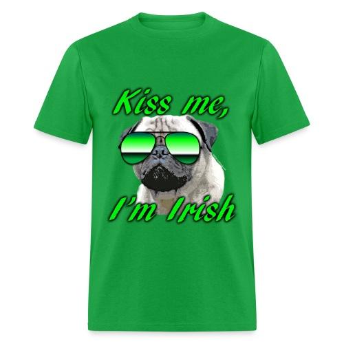 Kiss Me I'm Irish Pug Dog - Men's T-Shirt