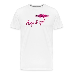 Men's White Amp It Up! T-shirt - Men's Premium T-Shirt