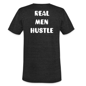 Men's Black Real Men Hustle Tee - Unisex Tri-Blend T-Shirt by American Apparel
