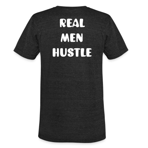 Men's Black Real Men Hustle Tee - Unisex Tri-Blend T-Shirt
