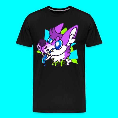 WOLF ON A STICK V2 - Men's Premium T-Shirt
