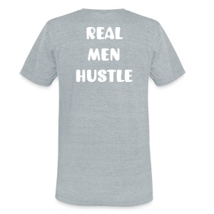 Men's Real Men Hustle Tee - Unisex Tri-Blend T-Shirt by American Apparel